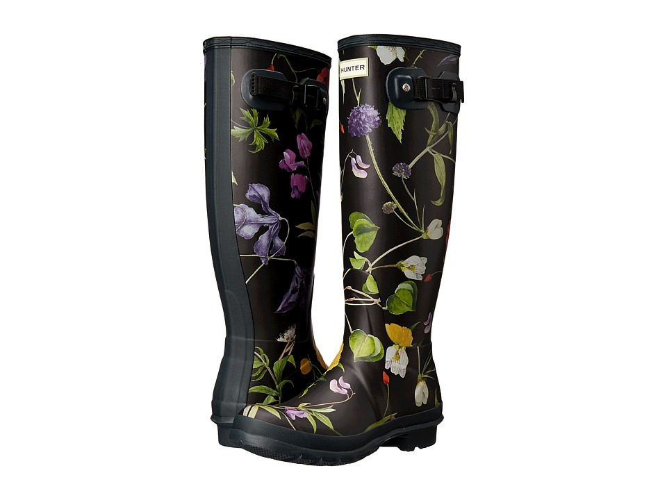 Hunter - Royal Horticultural Society Tall Floral (Black) Women