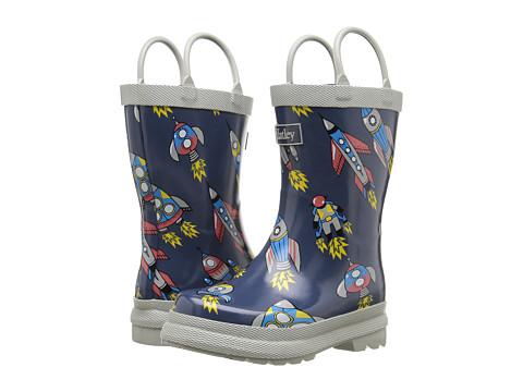 Hatley Kids Retro Rocket Rainboots (Toddler/Little Kid) - Grey