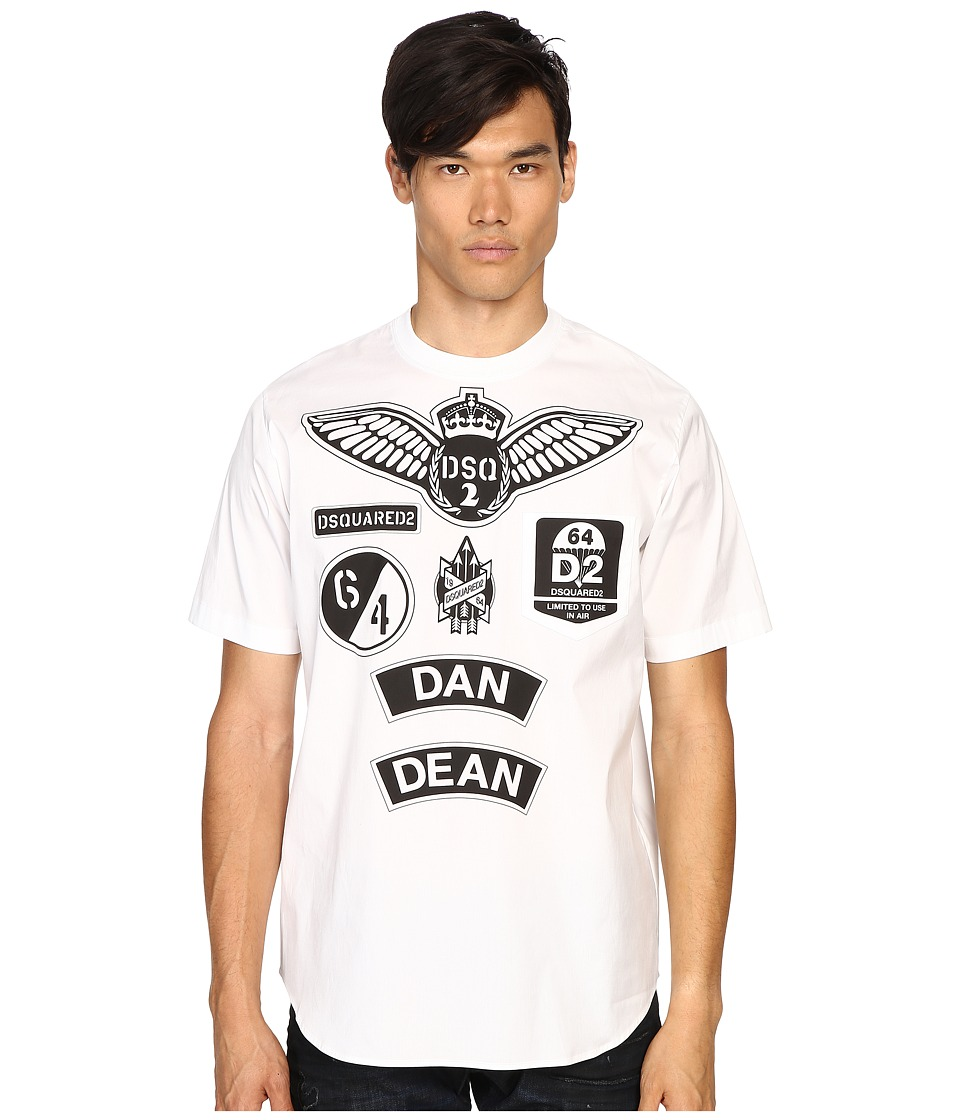 DSQUARED2 - Military Patch Popeline T-Shirt (White) Men