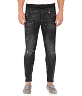 DSQUARED2 - Uniform Outrage Wash Mixed Jeans in Black