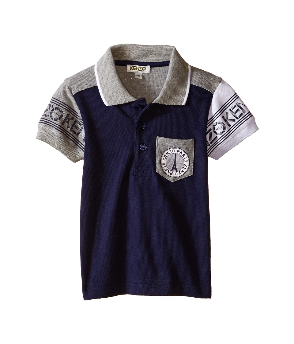 Kenzo Kids Kenzo Polo with Eiffel Tower Pocket Toddler Marine Blue Boys Clothing