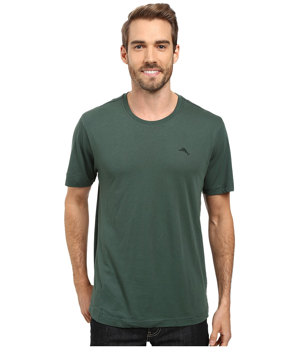 Tommy Bahama - Solid Cotton Modal Jersey Basic Short Sleeve T-Shirt (Bottle Green) Men