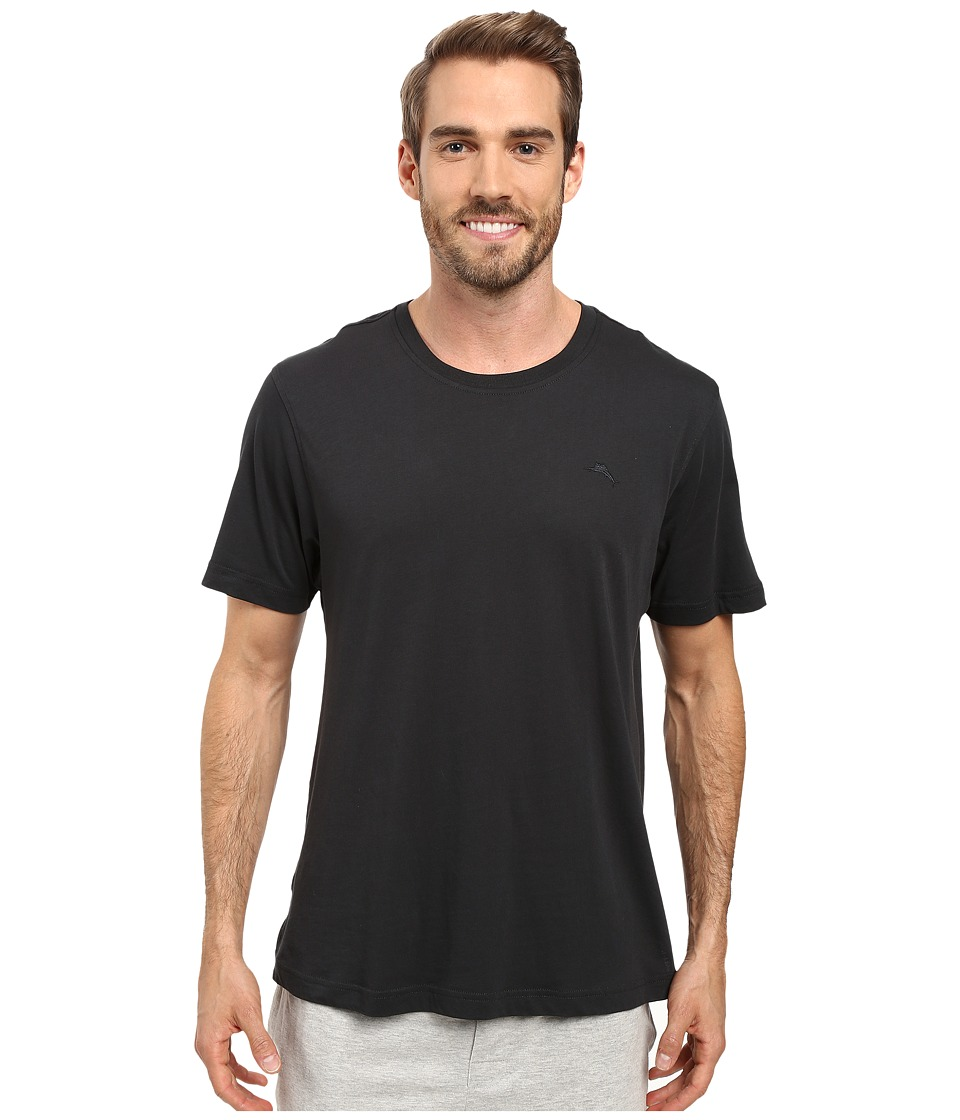 Tommy Bahama - Solid Cotton Modal Jersey Basic Short Sleeve T-Shirt (Coal) Men