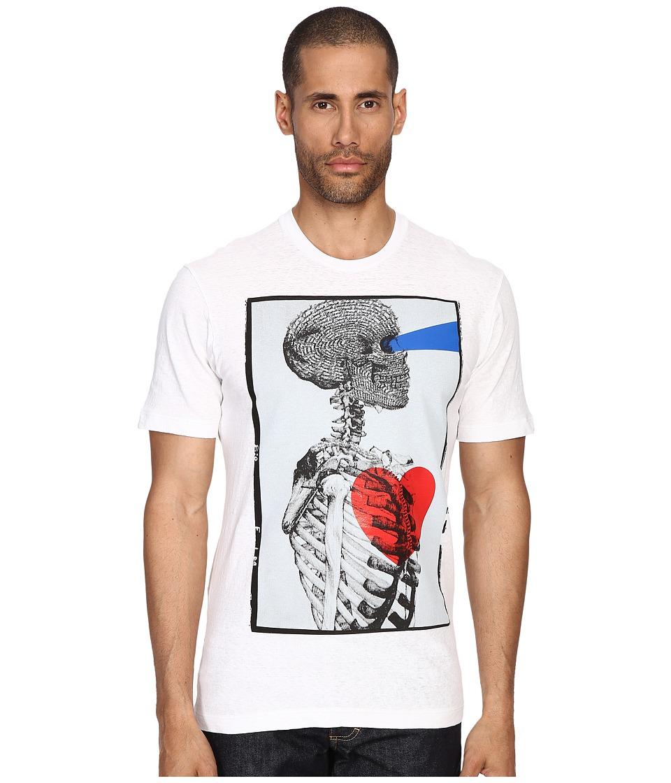 DSQUARED2 - Tight Hetero Soft Shinty T-Shirt (White) Men