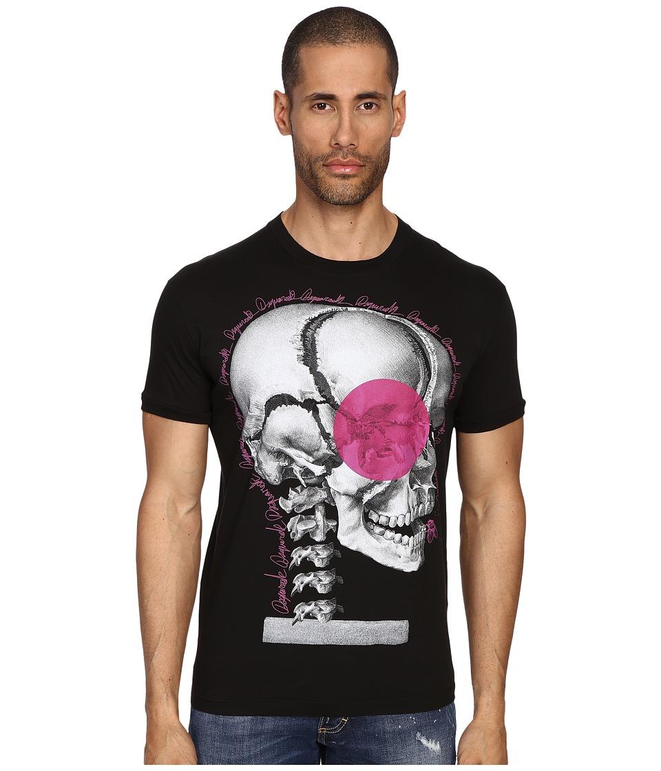 DSQUARED2 Chic Dan Fit Skull Print T-Shirt (Black) Men