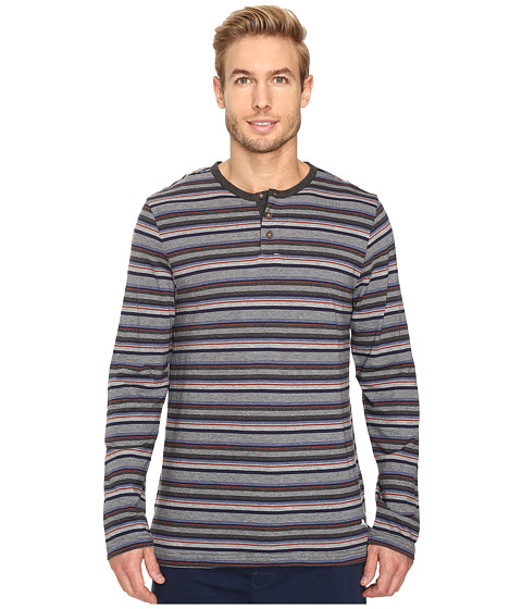 Tommy Bahama Yarn-Dye Cotton Modal Jersey Long Sleeve Henley - Sail Striped Heather Multi