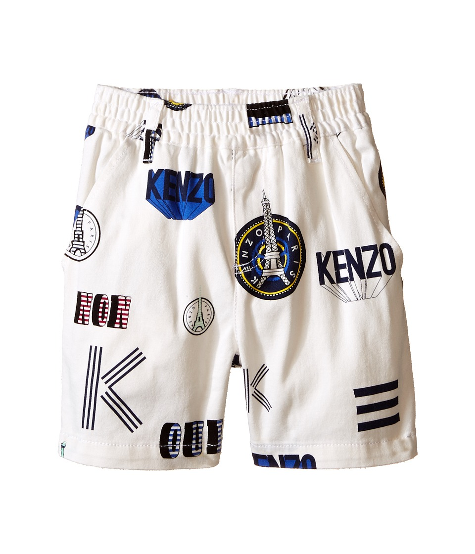 Kenzo Kids Oui Non Bermudas Toddler White Girls Shorts