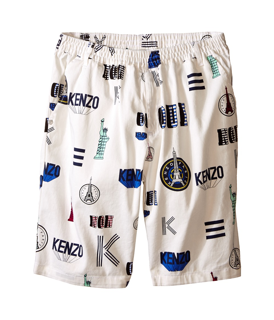 Kenzo Kids Oui Non Bermudas Little Kids/Big Kids White Girls Shorts