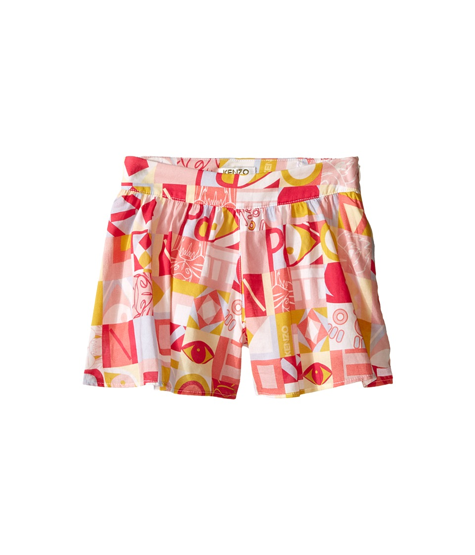 Kenzo Kids Cubism Skort Toddler Light Pink Girls Skort