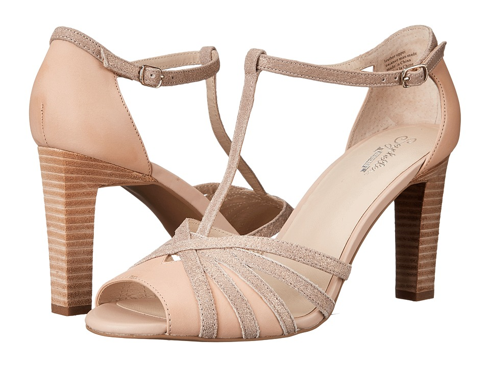 1930s Style Shoes Seychelles - Lap Nude LeatherRose Gold Metallic High Heels $100.00 AT vintagedancer.com
