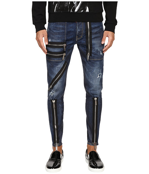 DSQUARED2 Five-Pocket Military Jeans in Blue
