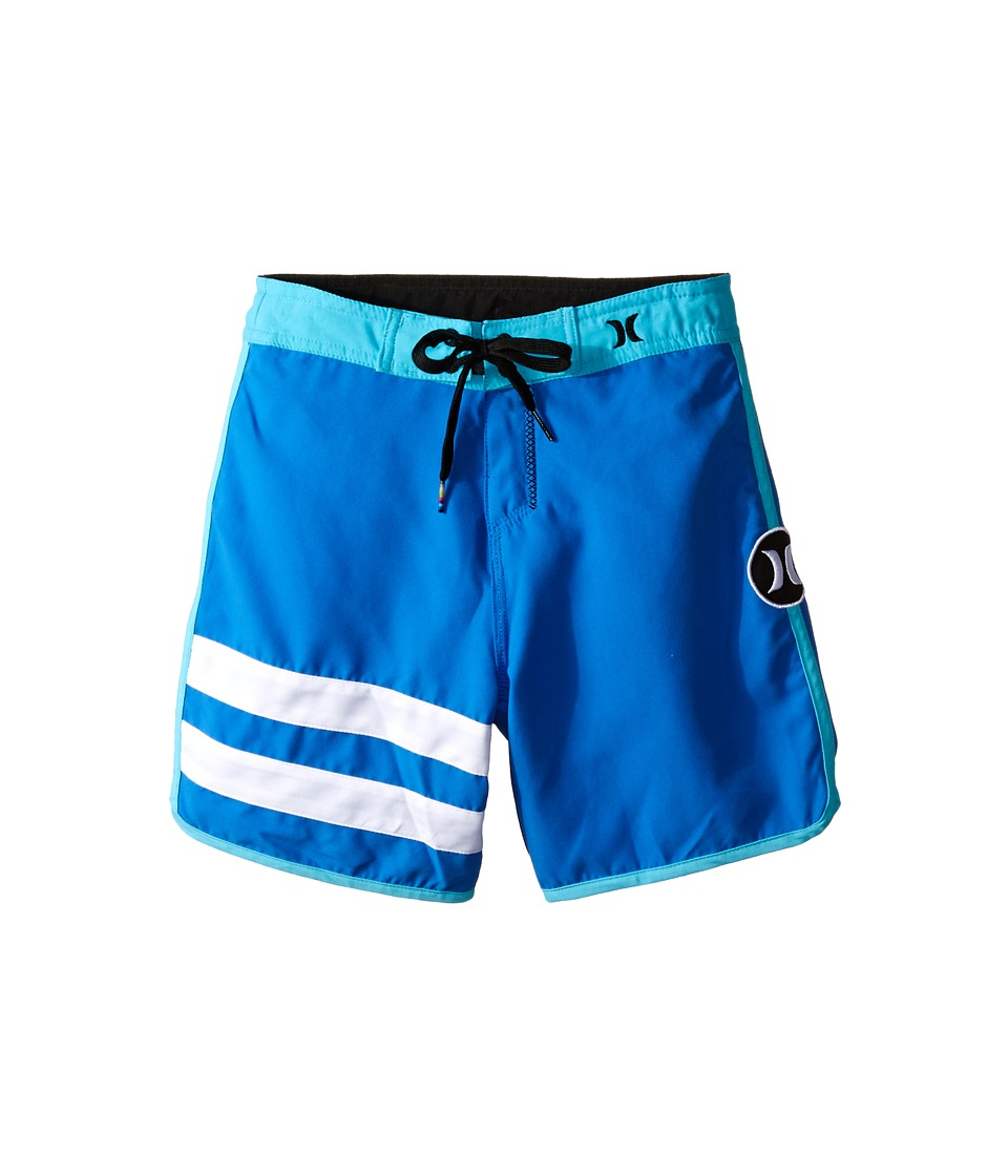 Hurley Kids Block Party Boardshorts Little Kids Fountain Blue Boys Swimwear