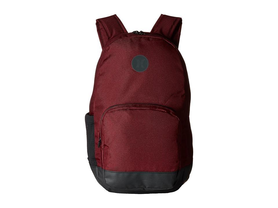 Hurley - Blockade Backpack (Night Maroon/Black) Backpack Bags