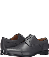 a. testoni - Cap Toe Leather Medallion Oxford