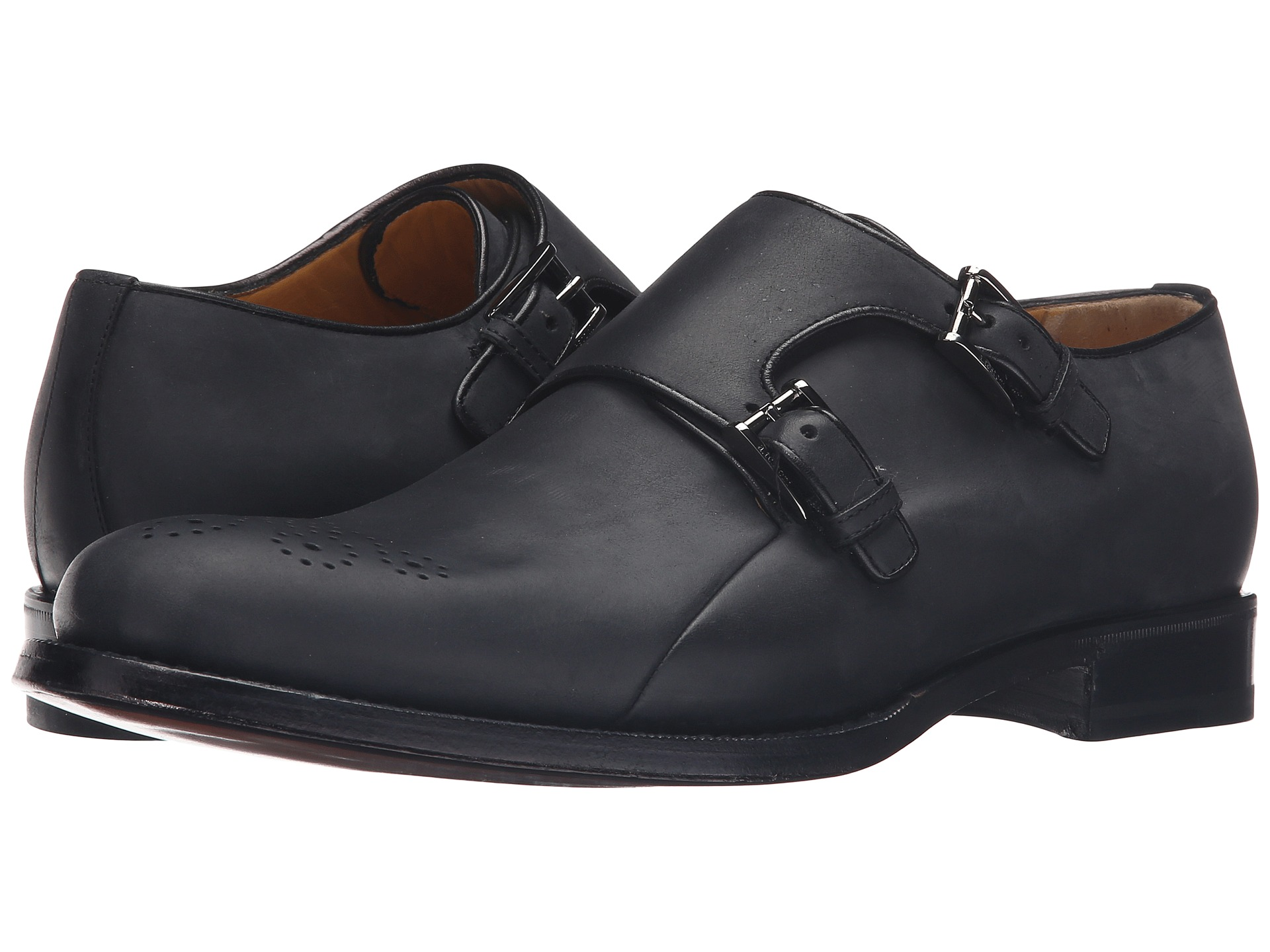 a. testoni Goodyear Constructed Bolognese Double Monk-Strap at 6pm.com