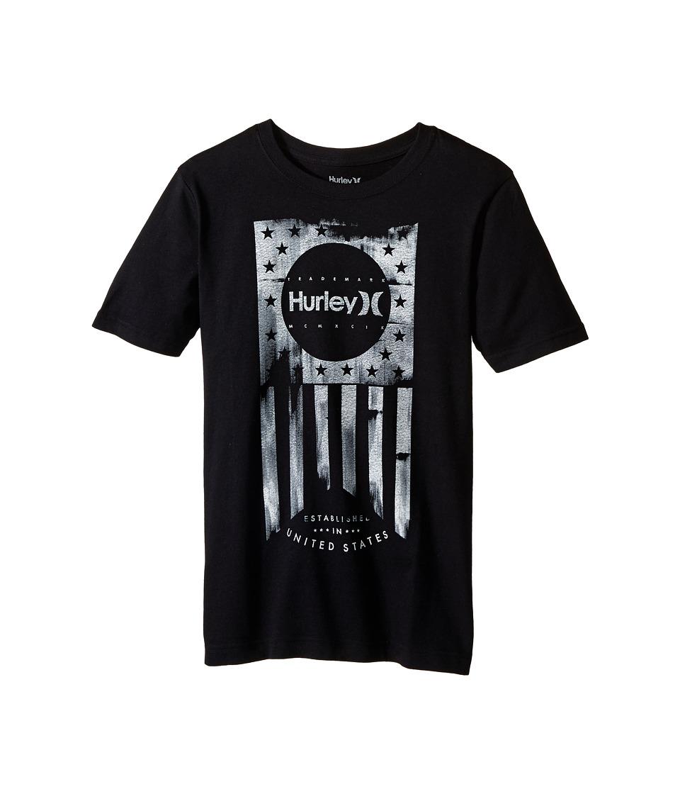 Hurley Kids One Nation Tee Big Kids Black Boys T Shirt
