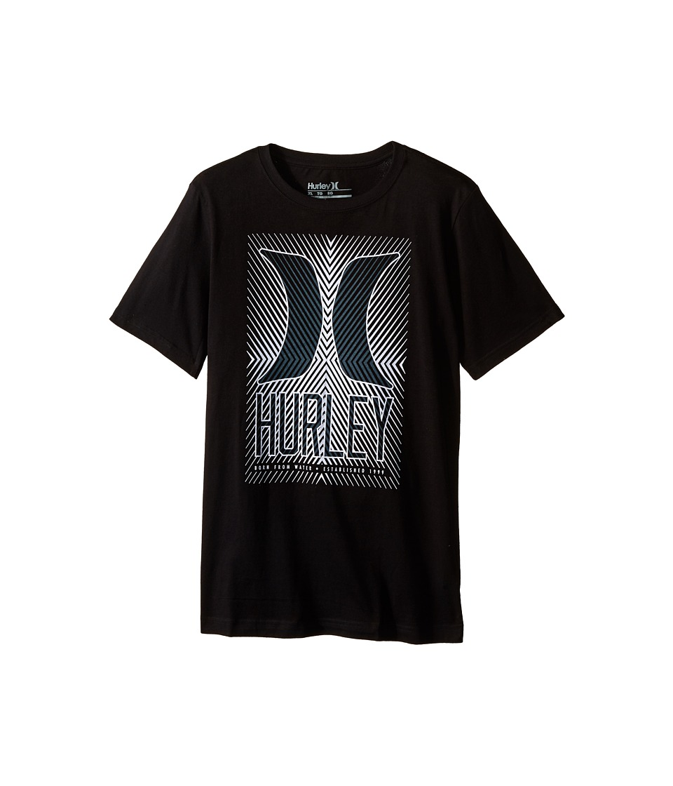 Hurley Kids Statik Short Sleeve Tee Big Kids Black Boys T Shirt
