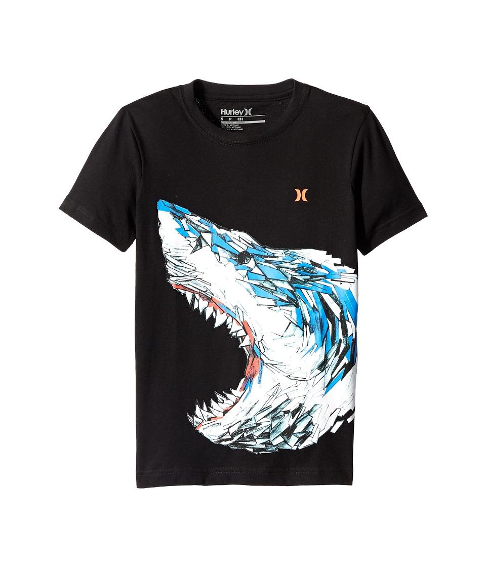 Hurley Kids Predator Short Sleeve Tee Big Kids Black Boys T Shirt