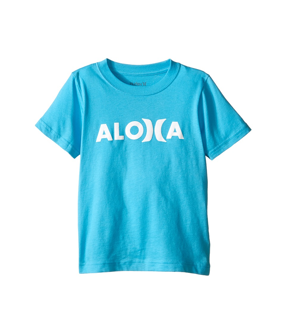 Hurley Kids Aloha Tee Little Kids Beta Blue Boys T Shirt