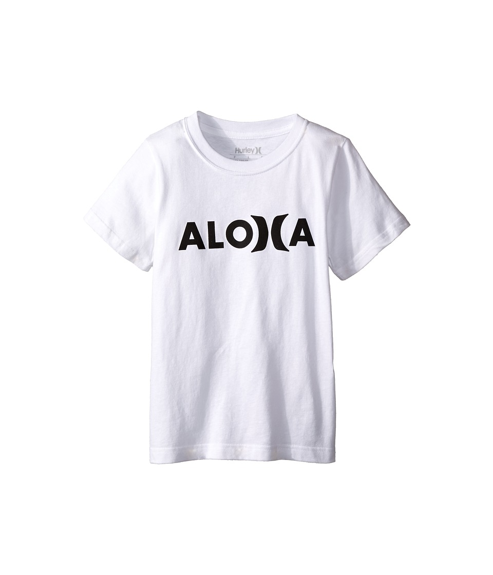 Hurley Kids Aloha Tee Little Kids White Boys T Shirt