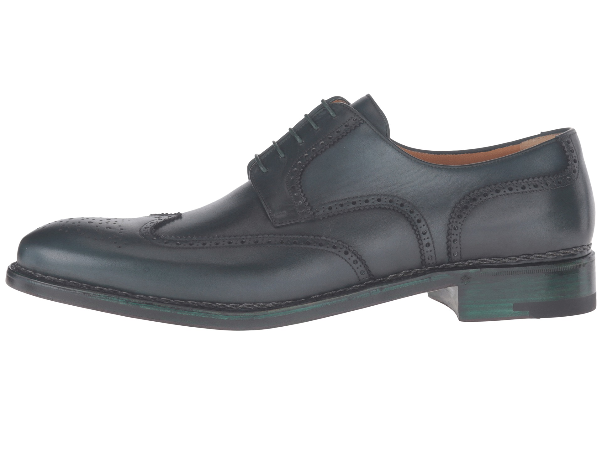 a. testoni Amedeo Testoni Hand Painted Wing Tip Oxford at 6pm.com
