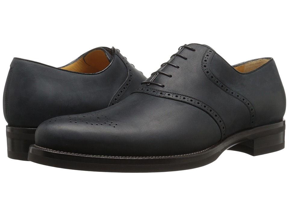 a. testoni - Medallion Toe Derby (Nero) Men