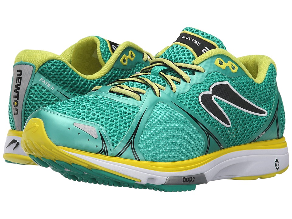 Newton Running Fate II Green/Yellow Womens Running Shoes