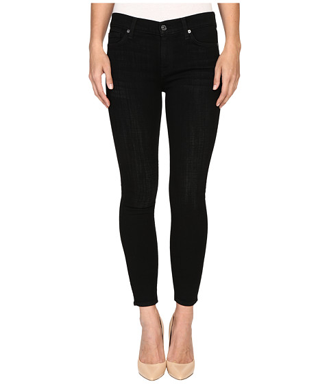 7 For All Mankind The Ankle Skinny in Black Sands Broken Twill