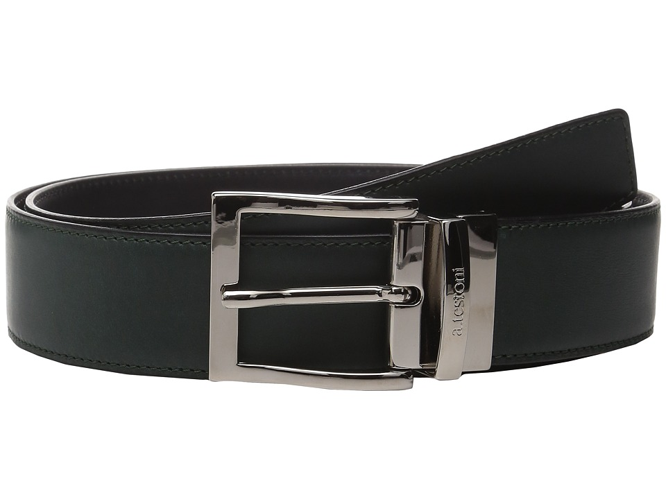 Image of a. testoni - CDR029651 (Bottle Green) Men's Belts