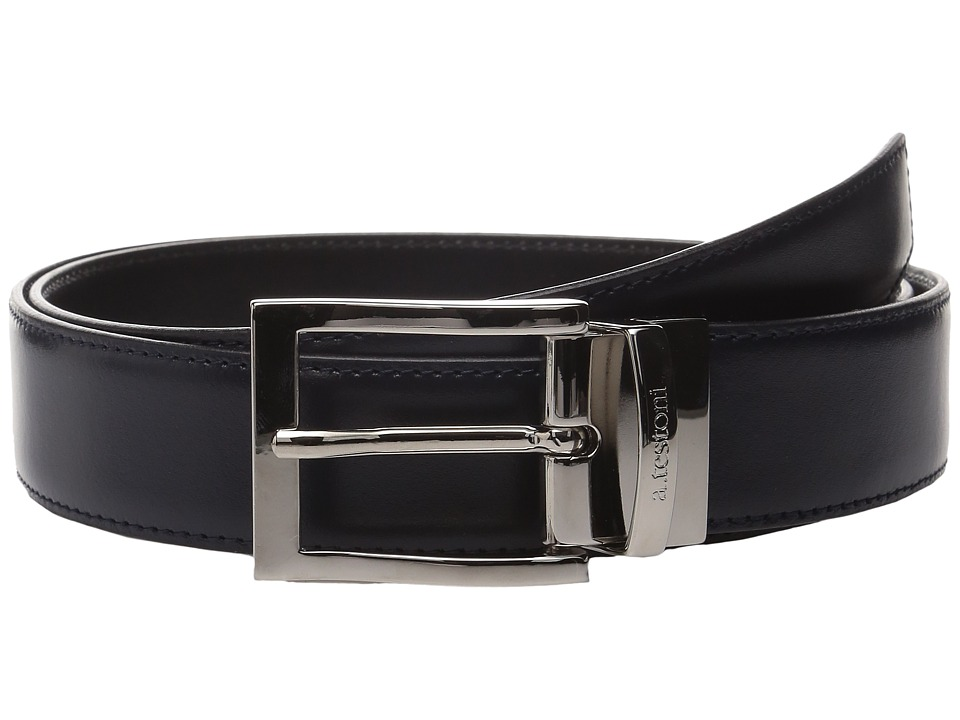 Image of a. testoni - CDR02964I (Nero/Navy) Men's Belts