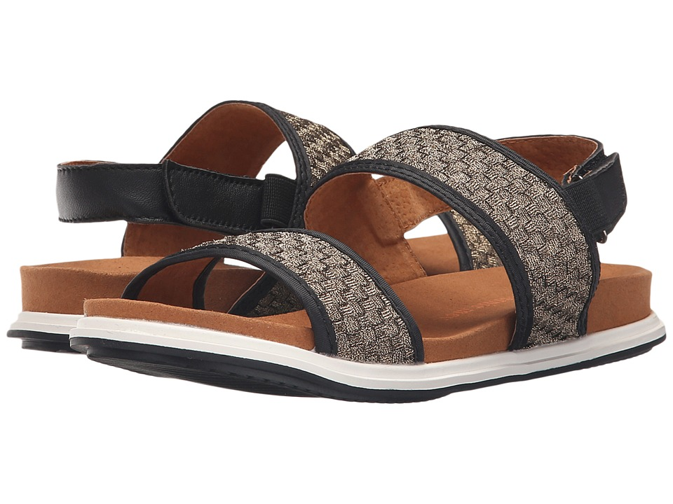 bernie mev. Atlantis Black/Bronze Womens Sandals