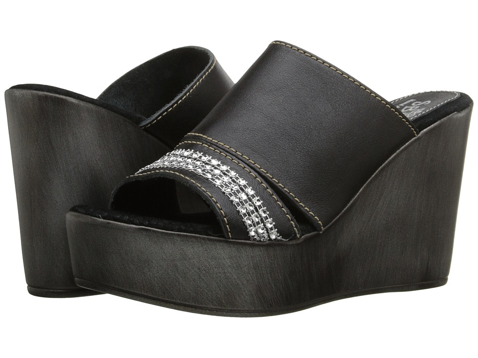 Sbicca Canaveral Black Womens Wedge Shoes