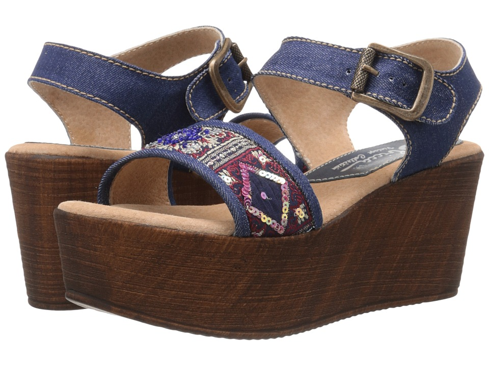 Sbicca Tampa Denim Womens Wedge Shoes