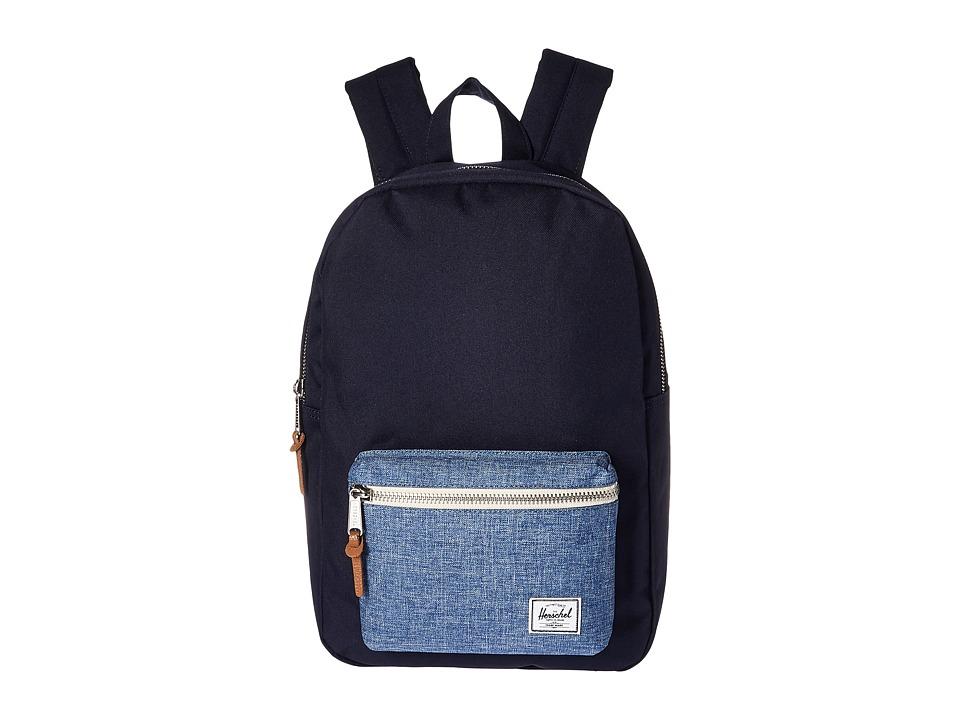 Herschel Supply Co. - Settlement Mid-Volume (Peacoat/Limoges Crosshatch) Backpack Bags