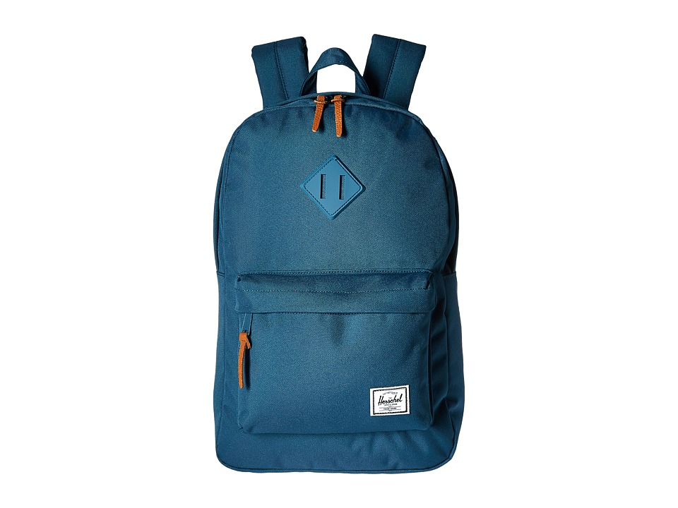 Herschel Supply Co. - Heritage Mid-Volume (Indian Teal/Indian Teal Rubber) Backpack Bags