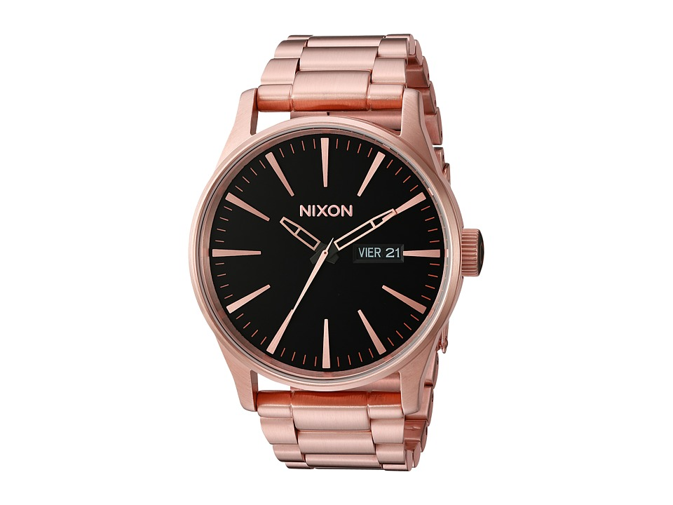 Nixon - Sentry SS (All Rose Gold/Black) Watches