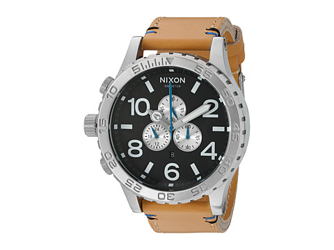Nixon 51-30 Chrono Leather - Black/Natural