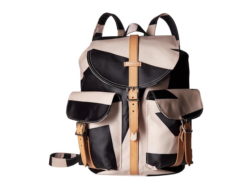 Herschel Supply Co. - Dawson (Womens Geo/Veggie Tan Leather) Bags
