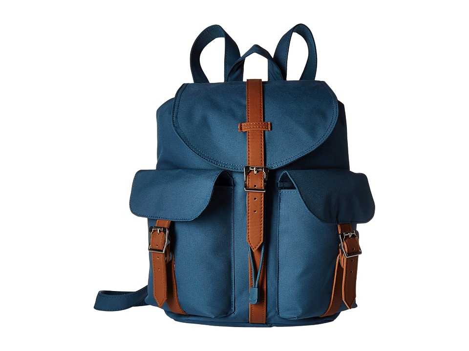 Herschel Supply Co. - Dawson (Indian Teal/Tan Synthetic Leather) Bags