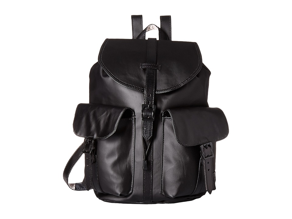 Herschel Supply Co. - Dawson (Black/Black Veggie Tan Leather) Bags