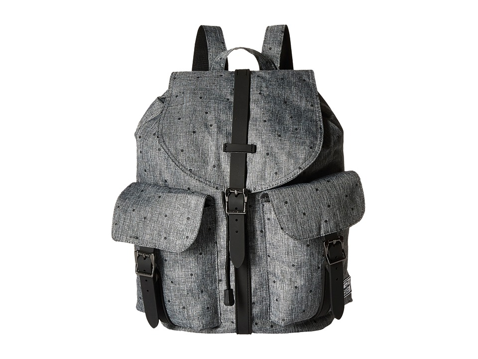 Herschel Supply Co. - Dawson (Scattered Raven Crosshatch/Black Rubber) Bags