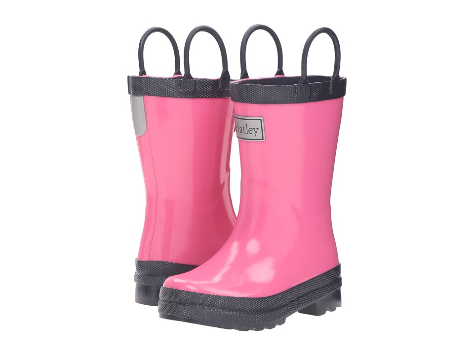 Hatley Kids Pink Navy Rain Boots (Toddler/Little Kid) (Pink) Girls Shoes