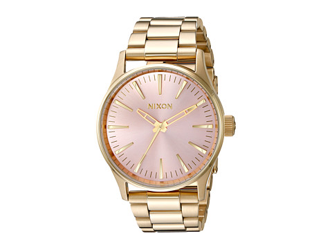 Nixon Sentry 38 SS X Pink Deco Collection - Light Gold/Pink