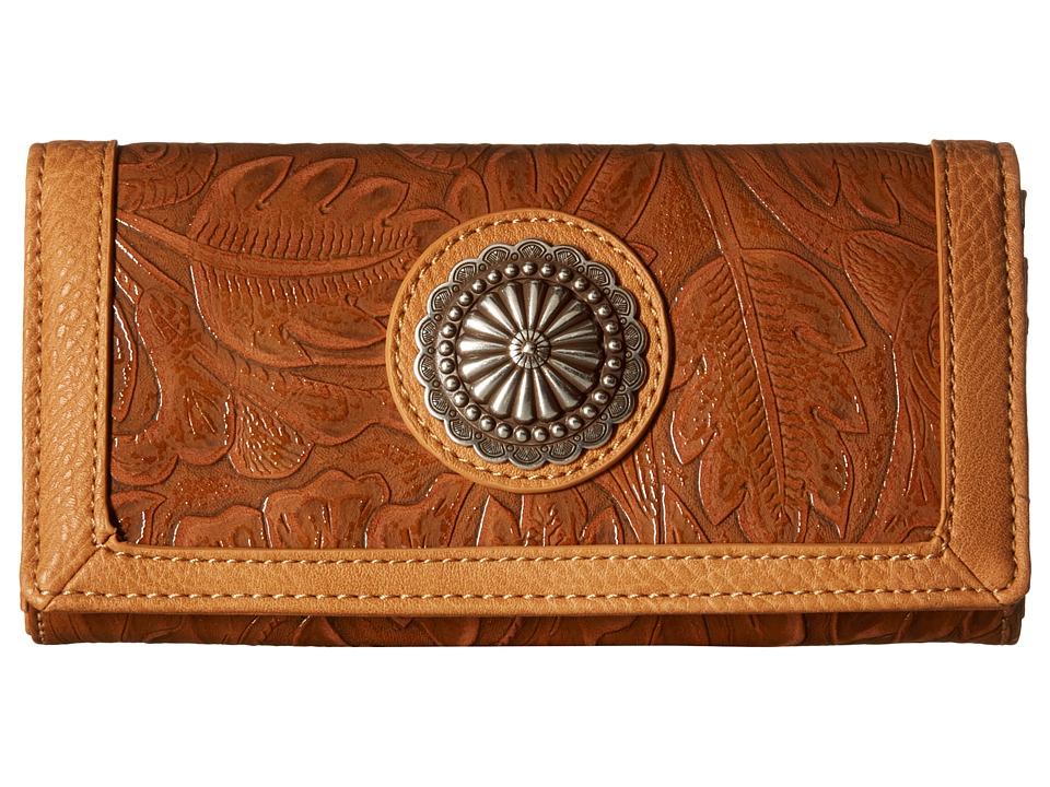 American West - Dallas Flap Wallet (Tan) Wallet Handbags