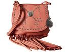 American West Austin Fringe Flap Bag w/ Wallet (Flamingo)