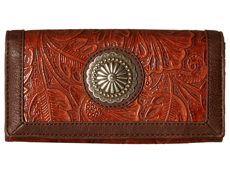 American West - Dallas Flap Wallet (Sunset Orange) Wallet Handbags