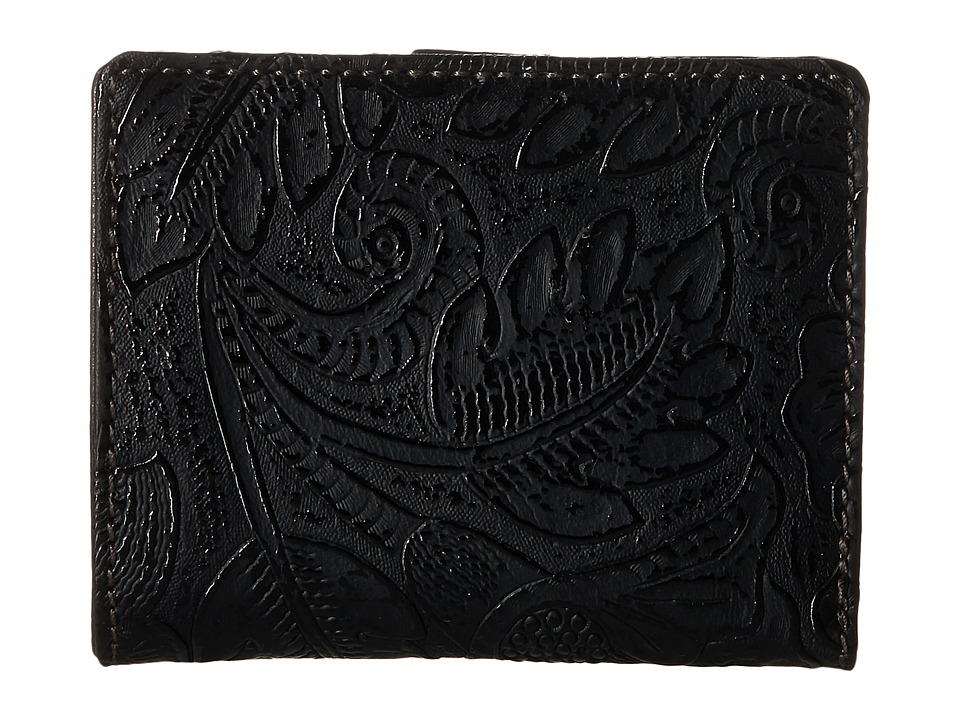 American West - Amour Folded Snap Wallet (Black) Wallet Handbags