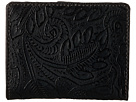 American West Amour Folded Snap Wallet (Black)