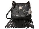 American West Austin Fringe Flap Bag w/ Wallet (Black)