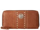 American West Rio Rancho Zip-Around Wallet (Brown)